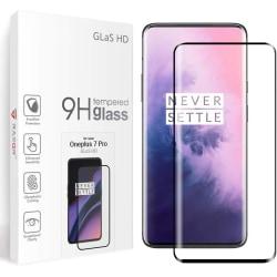 Glasskydd OnePlus 7 Pro / 7T Pro Härdat Täcker hela skärmen Transparent one size
