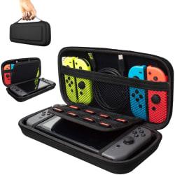 Hård Förvaringsväska, Fodral för Nintendo Switch, Svart Black