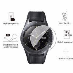 Härdat glas skärmskydd för Samsung Galaxy Watch 46mm grå