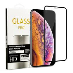 Härdat Glasskydd iPhone 11 / XR  Täcker hela skärmen Transparent