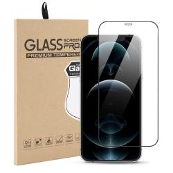 Härdat Glasskydd iPhone 12 Pro / iPhone 12 Täcker hela skärmen Transparent