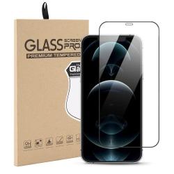 Härdat Glasskydd iPhone 12 Pro Max Täcker hela skärmen Transparent