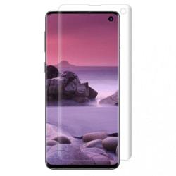 Heltäckande Skärmskydd för Samsung S10 i Plast fingeravtryck Transparent