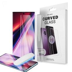 Heltäckande UV Ljus härdat Glas till Samsung Note 10 Plus Transparent one size
