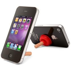 iPlunge - avloppsrensare som iPhoneställ (Vit) Vit