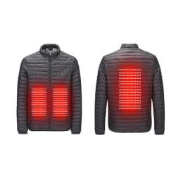 Jacka med Värmeslingor Värmejacka stl XL svart XL