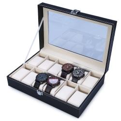 Klocklåda för 12 klockor / Klockbox / Urbox  Svart one size