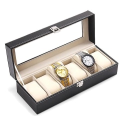 Klocklåda för 6 klockor / Klockbox / Urbox  Svart one size