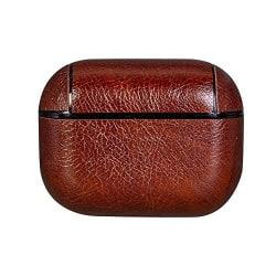 Läder Fodral för Apple Airpods Pro - Mörkbrun  Brun one size