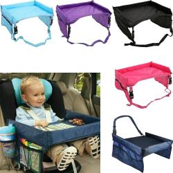 Ljusblå Lekbord till bilbarnstol Blå one size