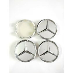 MB37 - 60MM 4-pack Centrumkåpor Mercedes Benz chrome  Silver one size