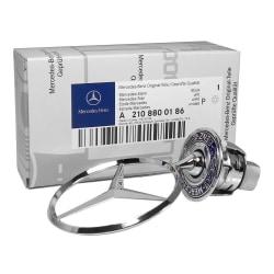 Mercedes-Benz huvstjärna Emblem OEM A2108800186 Silver
