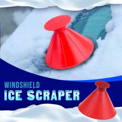 Multi Smart Isskrapa + Tratt Car Windshield Ice Scraper Tool Transparent one size