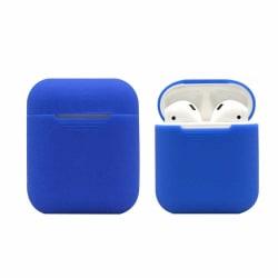 Silikonskal fodral för Apple Airpods / Airpods 2 - Blå Blå