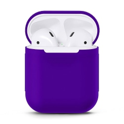 Silikonskal fodral för Apple Airpods / Airpods 2 - Lila lila one size