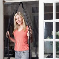 Svart Myggnät magnetiskt för dörr altandörr 210x100 Svart one size