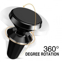 Universal Magnetisk mobilhållare för fläktgaller 360 Roterande Svart