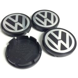 VW09 - 55MM 4-pack Centrumkåpor Volkswagen Silver one size