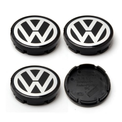 VW34 - 63MM 4-pack Centrumkåpor Volkswagen Silver one size