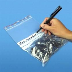 100-Pack - 7x10cm Ziplock/Blixtlåspåsar Skrivfält Zip Lock
