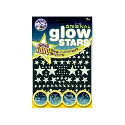 1000-pack - Självlysande Stjärnor - Väggdekal - Dekal till Tak