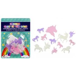 14-Pack - Självlysande Enhörning / Unicorn - Väggdekal / Tak multifärg