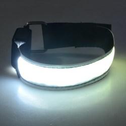 2-Pack - Armband LED / Reflex som Lyser - Reflexband - Vit Vit