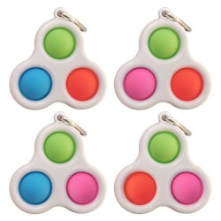 2-Pack - Mini Simple Dimple Pop It Fidget Toys - Leksak / Sensor Tre Bubblor
