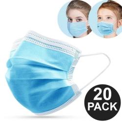 20-Pack - Munskydd Barn - CE Märkt - Skydd Mun - Mask Skyddsmask