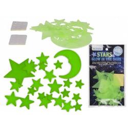 24-pack - Självlysande Stjärnor - Väggdekal - Dekal till Tak