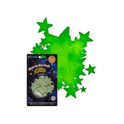 50-pack - Självlysande Stjärnor - Väggdekal - Dekal till Tak
