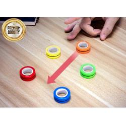 6-Pack - Magnetiska Ringar / Fidget Toys - Magnetkulor
