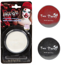 Ansiktsfärg, Oljebaserad 10g - Flera färger - Halloween Vit