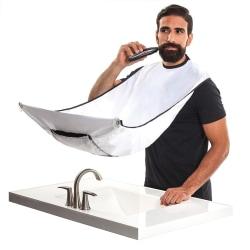 Förkläde för Rakning & Skägg - Samlar upp skägget - Vit Vit