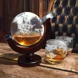 Glob Karaff Set med Whiskey Glas - 850 ml