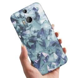 HTC One M8 - Skal / Mobilskal Blåa Fragment blue