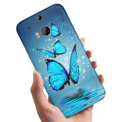 HTC One M8 - Skal / Mobilskal Glittrande Fjärilar