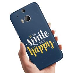 HTC One M8 - Skal / Mobilskal Just Smile
