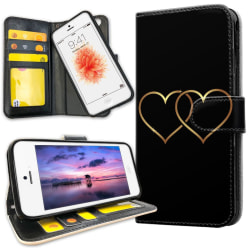 iPhone 5/5S/SE - Mobilfodral Double Hearts