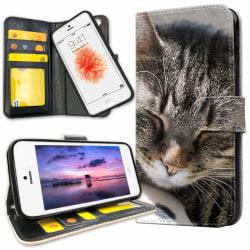 iPhone 5/5S/SE - Mobilfodral Sovande Katt