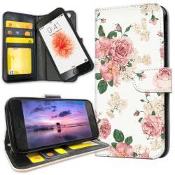 iPhone 6/6s Plus - Mobilfodral Retro Blommor
