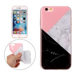 iPhone 6/6s - TPU Marmor Skal / Mobilskal (Rosa/Vit/Svart) white