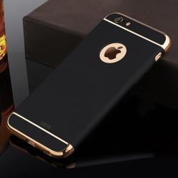 iPhone 6/6s - TPU Skal / Mobilskal (Svart/Guld)
