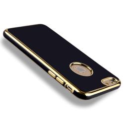 iPhone 6/6s - TPU Skal / Mobilskal (Svart/Guld) gold
