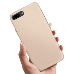 iPhone 8 Plus - Skal / Mobilskal Beige