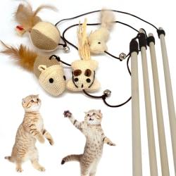 Kattleksak på Pinne med Bjällra - Leksak för Katt