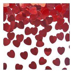 Konfetti Hjärtan - Röda - 30 gram Röd