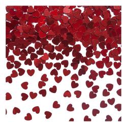 Konfetti Hjärtan - Röda - Små
