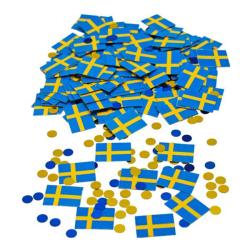 Konfetti Svenska Flaggan - Blå / Gula