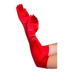 Långa Handskar - Röd - Halloween & Maskerad